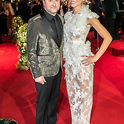 NLD/Amsterdam/20171012 - Televizier-ring Gala 2017, Dennis Weening en Nicolette Kluijver
