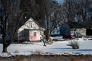 A sign on a home in rural Iowa shows support for Senator and 2016 Republican presidential candidate, Ted Cruz (R-TX) on January 29, 2016. Cruz is in Iowa campaigning in the final days before the Iowa Caucus.<br />