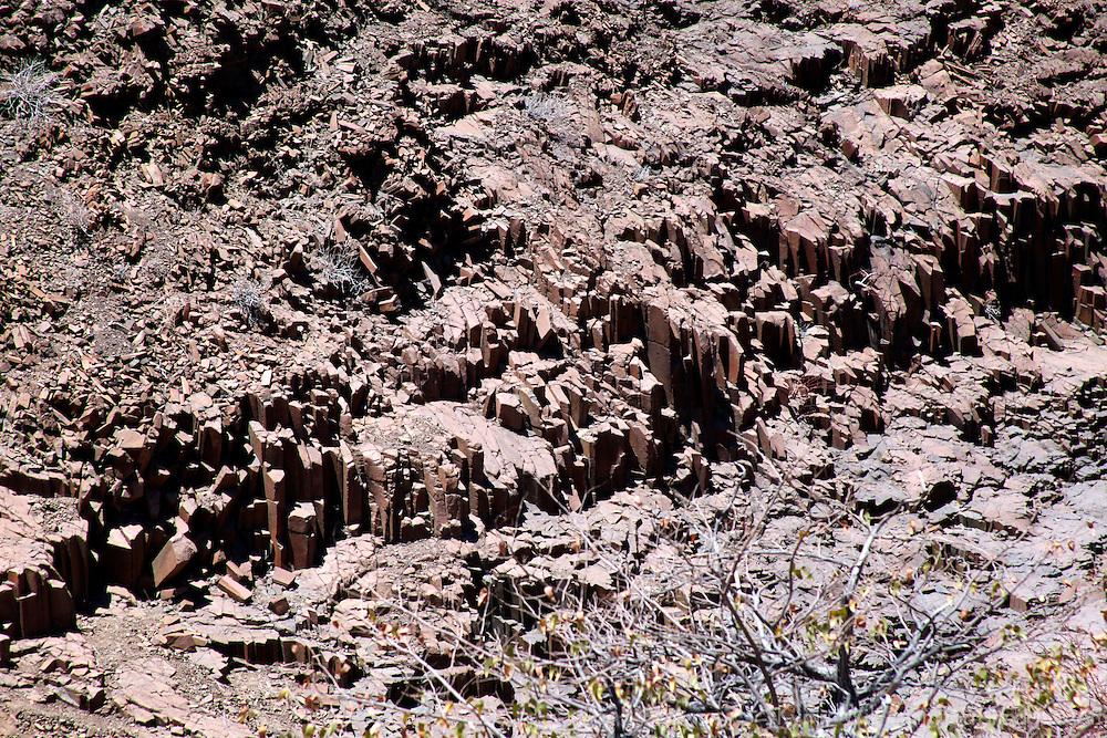 Africa, Namibia, Twyfelfontein. Organ Pipes Rocks of Twyfelfontein.