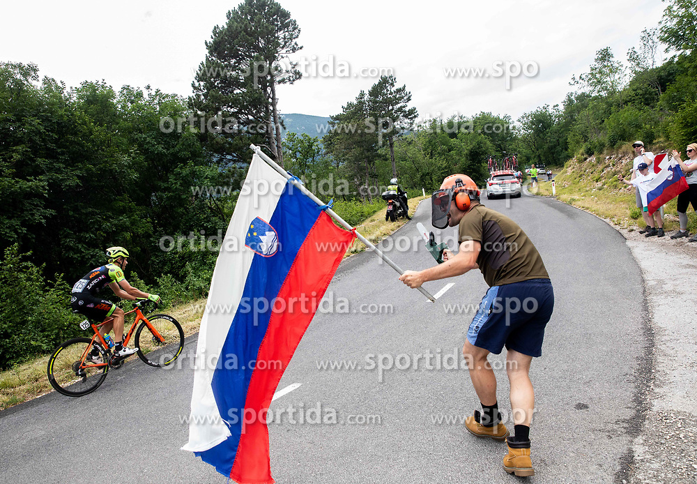 Sebastian Schoenberger (AUT) of Neri Sottoli Selle Italia KTM and Supporters during 4th Stage of 26th Tour of Slovenia 2019 cycling race between Nova Gorica and Ajdovscina (153,9 km), on June 22, 2019 in Slovenia. Photo by Vid Ponikvar / Sportida