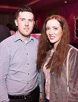 Shane Fleming, Oranmore and Blogger Rebecca Casserly in the g hotel for the launch of Galway Design Week, a week of design-led events celebrating the best of Galway design, which will be held all over the City from the 10th to the 17th of November. Photo:Andrew Downes