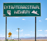 Extraterrestrial Highway Sign (Nevada 375), in the vicinity of Area 51. Image taken with a Nikon D3x camera and 45 mm f/2.8 PC-E lens (ISO 100, 45 mm, f/16, 1/80 sec).