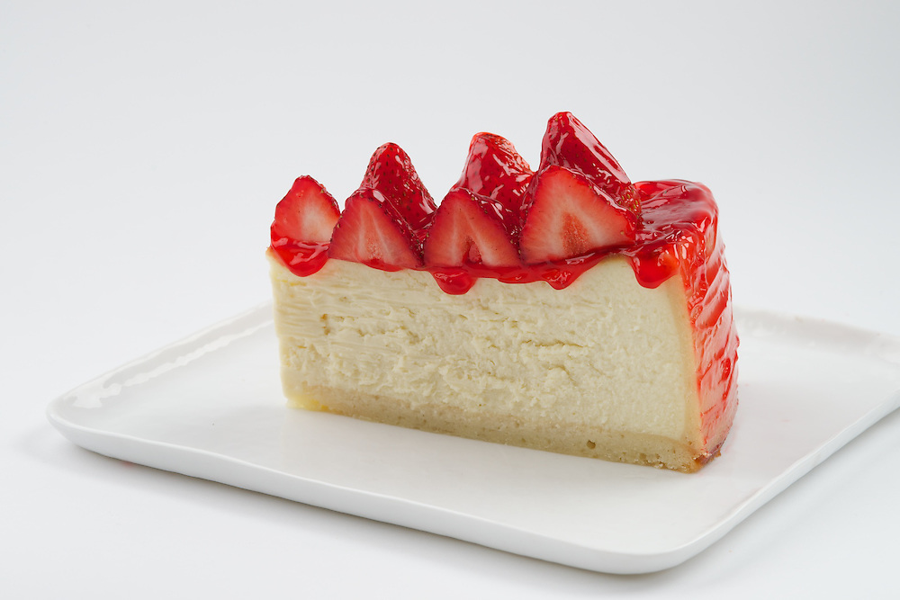 Carnegie Deli's Strawberry Cheese Cake Slice