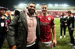 Joe Bryan of Bristol City with Jamal Ford-Robinson - Mandatory by-line: Robbie Stephenson/JMP - 20/12/2017 - FOOTBALL - Ashton Gate Stadium - Bristol, England - Bristol City v Manchester United - Carabao Cup Quarter Final