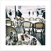 'Petit dej', Paris, France - Colour version. Inkjet pigment print on Canson Infinity Rag Photographique 310gsm 100% cotton museum grade Fine Art and photo paper.<br />
