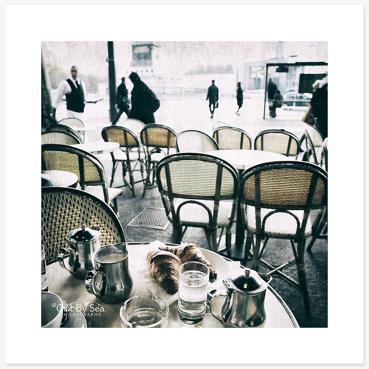 'Petit dej', Paris, France - Colour version. Inkjet pigment print on Canson Infinity Rag Photographique 310gsm 100% cotton museum grade Fine Art and photo paper.<br /> <br /> 8x8&quot; Prints: First print $49. Additional prints in same order $29. (A half inch white border is added for safe handling. Size with border 9x9&rdquo;).<br /> <br /> Frame-Ready Prints: Add $29 per print. Includes mounting on 12x12&rdquo; foam-board, plus white matboard with 8x8&rdquo; photo opening. Suits standard 12x12&rdquo; frames.<br /> <br /> Price includes GST &amp; postage within Australia. <br /> <br /> Order by email to orders@girtbyseaphotography.com  quoting image title or reference number, your contact details, delivery address &amp; preferred payment method (PayPal or Bank Deposit). You will be invoiced by return email. Normally ships within 7 days of payment.