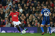 Manchester United's Paul Pogba during the EFL Cup match between Manchester United and Rochdale at Old Trafford, Manchester, England on 25 September 2019.
