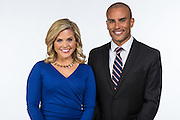 WDSU-TV news anchors Randi Rousseau and Charles Divins
