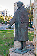 Raoul Wallenberg statue near a street on his name,  Ramat HaHayal, Tel Aviv, Israel. Raoul Gustaf Wallenberg (4 August 1912 – disappeared 17 January 1945) was a Swedish architect, businessman, diplomat and humanitarian. He is widely celebrated for saving tens of thousands of Jews in Nazi-occupied Hungary during the Holocaust. By the sculptor Imre Varga. Identical to one in Budapest