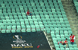 Arsenal seats empty in the stands at full time during the UEFA Europa League final at The Olympic Stadium, Baku, Azerbaijan.