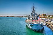Port of Los Angeles, San Pedro. S.S. Lane Victory, United States Navy,  Merchant Ship