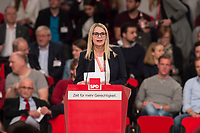 19 MAR 2017, BERLIN/GERMANY:<br /> Natalie Pawlik, SPD, Direktkandidatin fuer den Wahlkreis Wahlkreis 177, Wetterau I, haelt eine Rede, a.o. Bundesparteitag, Arena Berlin<br /> IMAGE: 20170319-01-067<br /> KEYWORDS: party congress, social democratic party, speech