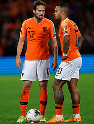 10-10-2019 NED: Netherlands - Northern Ireland, Rotterdam<br /> UEFA Qualifying round ­Group C match between Netherlands and Northern Ireland at De Kuip in Rotterdam / Daley Blind #17 of the Netherlands, Memphis Depay #10 of the Netherlands