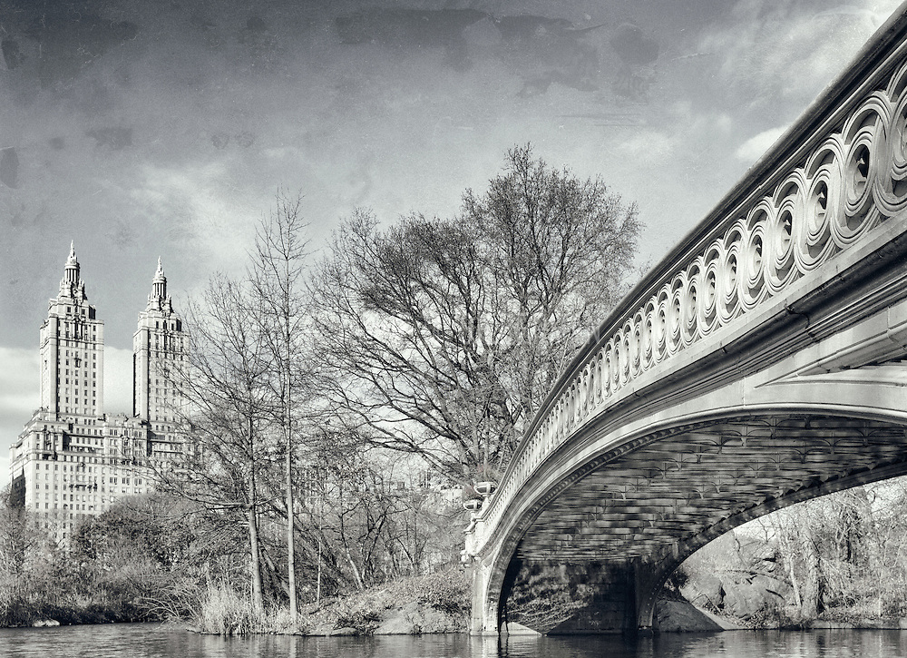 This mid 1800's cast iron Central Park bridge stretches 60 feet.