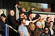 AFC Wimbledon fans during the EFL Sky Bet League 1 match between AFC Wimbledon and Shrewsbury Town at the Cherry Red Records Stadium, Kingston, England on 3 November 2018.