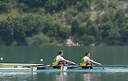 Aiguebelette, FRANCE.  AUS M2X, bow James MCREA and Alexander BELONOGOFF. Sunday, B Finals at the  .  13:09:10  Sunday  22/06/2014. [Mandatory Credit; Peter Spurrier/Intersport-images]