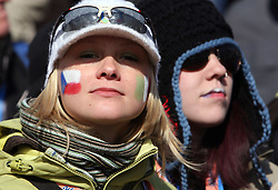 Fans of Czech republic at Flying Hill Team in 3rd day of 32nd World Cup Competition of FIS World Cup Ski Jumping Final in Planica, Slovenia, on March 21, 2009. (Photo by Vid Ponikvar / Sportida)