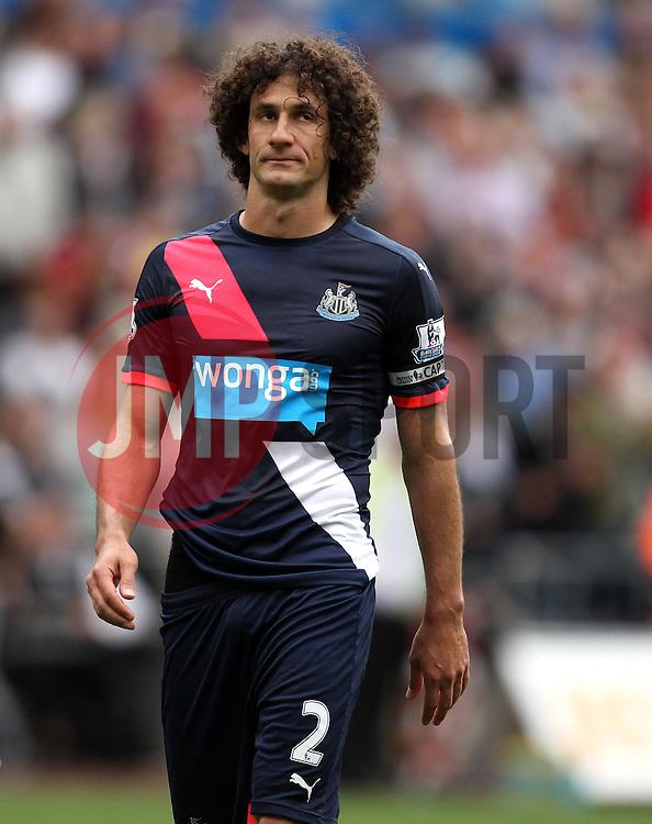 Fabricio Coloccini of Newcastle United looks downbeat after defeat to Swansea - Mandatory byline: Robbie Stephenson/JMP - 07966386802 - 15/08/2015 - FOOTBALL - Liberty Stadium -Swansea,England - Swansea City v Newcastle United - Barclays Premier League