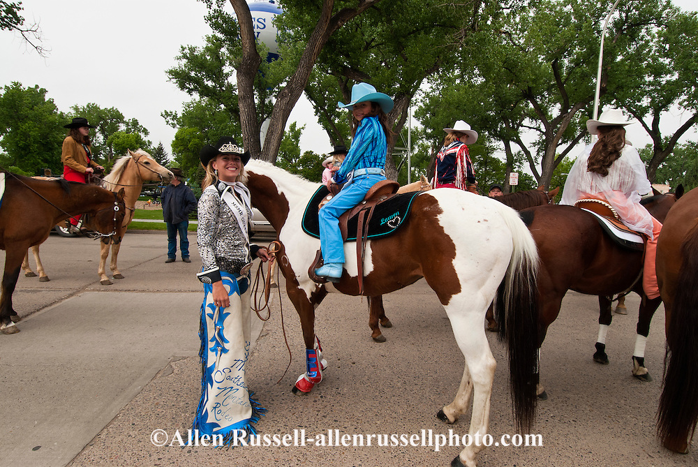 Miss Southern Montana Rodeo Queen, Miles City Bucking Horse Sale Parade, Montana