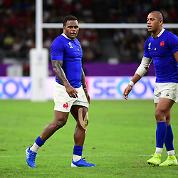 (L-R) Viri VAKATAWA of France and Gael FICKOU of France during the Rugby World Cup 2019 Quarter Final match between Wales and France on October 20, 2019 in Oita, Japan. (Photo by Dave Winter/Icon Sport) - Oita Stadium - Oita (Japon)