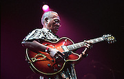 Ernest Ranglin.<br /> Jamaican guitarist, composer and ska music pioneer.<br /> WOMAD Festival, Reading, England July 2002.