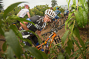 Cherise Stander of Team RECM mixed looks back during stage 1 of the 2014 Absa Cape Epic Mountain Bike stage race held from Arabella Wines in Robertson, South Africa on the 24 March 2014<br /> <br /> Photo by Greg Beadle/Cape Epic/SPORTZPICS