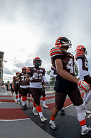 KELOWNA, BC - AUGUST 17:  Simon Degraff #33 of Okanagan Sun walks to the field against the Westshore Rebels at the Apple Bowl on August 17, 2019 in Kelowna, Canada. (Photo by Marissa Baecker/Shoot the Breeze)