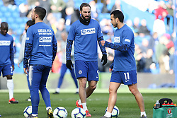 Gonzalo Higuain of Chelsea during the warm up - Mandatory by-line: Arron Gent/JMP - 10/03/2019 - FOOTBALL - Stamford Bridge - London, England - Chelsea v Wolverhampton Wanderers - Premier League