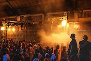 Baile at Boquerão club, soundsystem Pipo´s Evolution, one of the most famous of the carioca funk scene. At the beginning of the ball, fireworks announce the rumble of the soundsystem's bass. || Baile du clube Boquerão, Equipe de Som Pipo´s Evolution, une des plus fameuse de la scène funk carioca. Au début du baile, les feux d´artifice inaugurent les grondement des basses du soundsystem..© Vincent Rosenblatt / Agencia Olhares.