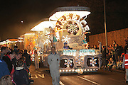 Fire and Ice by the Hot Rock Carnival Club, as seen at the 2011 Bridgwater Guy Fawkes Carnival. Bridgwater Carnival is an annual event to raise money for local charities. It is widely reputed to be the largest illuminated carnival in the world.