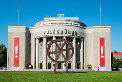 Exterior view of Volksbuhne Theatre in Mitte Berlin Germany