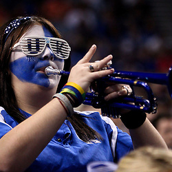 Mar 19, 2011; Tampa, FL, USA; A member of the Kentucky Wildcats band during the first half of the third round of the 2011 NCAA men's basketball tournament against the West Virginia Mountaineers at the St. Pete Times Forum.  Mandatory Credit: Derick E. Hingle