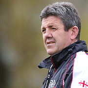 John Muggleton  the Georgia Rugby teams defensive coach, training the Georgian team at Recreation Park, Queenstown, in preparation for the IRB Rugby World Cup.  Queenstown, New Zealand, 9th September 2011. Photo Tim Clayton...