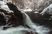 Small waterfall at winter