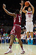 DALLAS, TX - FEBRUARY 19: Nic Moore #11 of the SMU Mustangs shoots a three-pointer over Josh Brown #1 of the Temple Owls on February 19, 2015 at Moody Coliseum in Dallas, Texas.  (Photo by Cooper Neill/Getty Images) *** Local Caption *** Nic Moore