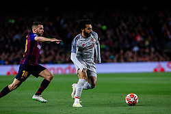 May 1, 2019 - Barcelona, BARCELONA, Spain - 11 Mohamed Salah of Liverpool FC defended by 18 Jordi Alba of FC Barcelona during the UEFA Champions League first leg match of Semi final between FC Barcelona and Liverpool FC in Camp Nou Stadium in Barcelona 01 of May of 2019, Spain. (Credit Image: © AFP7 via ZUMA Wire)