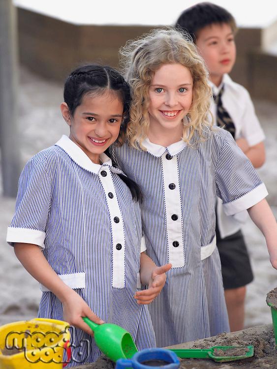 Schoolkids on a Playground