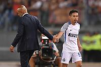 Yuto Nagatomo Inter con Luciano Spalletti, Inter coach.<br /> Roma 26-08-2017 Stadio Olimpico Calcio Serie A AS Roma - Inter Foto Antonietta Baldassarre / Insidefoto