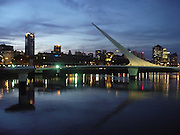 Modern buildings and sailboat, Puerto Madero, Buenos Aires, Argentina