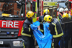 © Licensed to London News Pictures. 05/06/2018. London, UK. Emergency services at the scene of a residential fire on Bourdon Street in Mayfair, central London. Photo credit: Rob Pinney/LNP