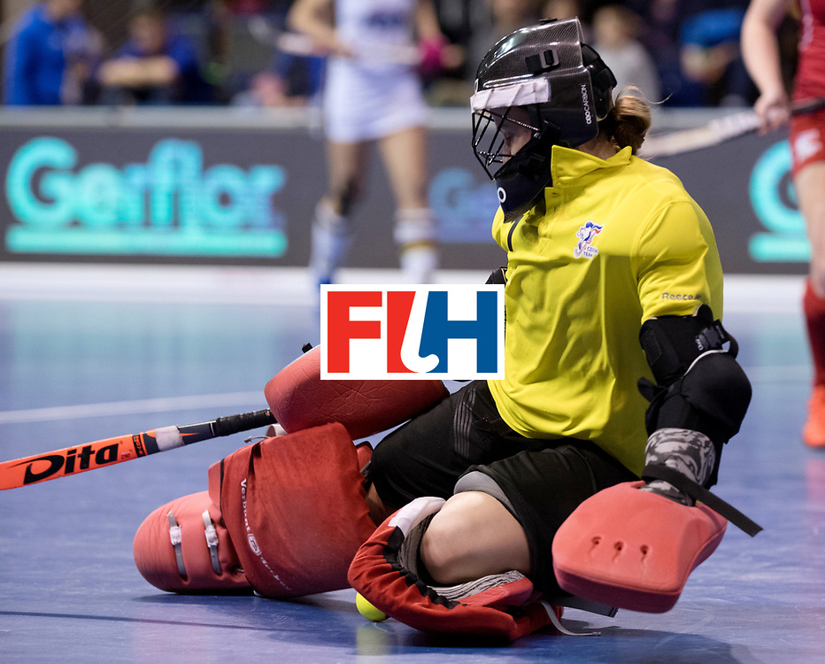 BERLIN - Indoor Hockey World Cup<br /> Women: Czech Republic - Germany<br /> foto: CECHAKOVA Barbora (GK).<br /> WORLDSPORTPICS COPYRIGHT FRANK UIJLENBROEK