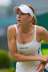 LONDON, ENGLAND - Friday, June 27, 2008: Nicole Vaidisova (CZE), wearing a diamond heart necklace, during her third round match on day five of the Wimbledon Lawn Tennis Championships at the All England Lawn Tennis and Croquet Club. (Photo by David Rawcliffe/Propaganda)