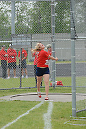 Hamilton, Ontario ---05/06/08--- \o\ competes in the senior girls discus at the 2008 OFSAA Track and Field meet in Hamilton, Ontario..MARK BUTTERWICK