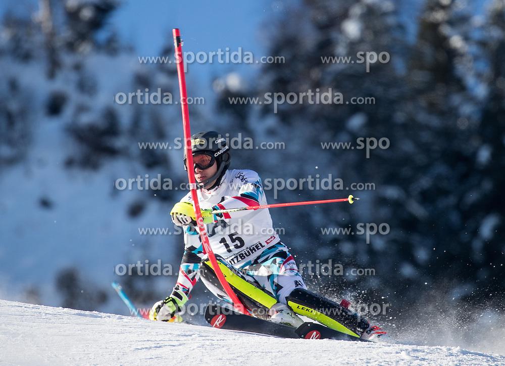 22.01.2017, Hahnenkamm, Kitzbühel, AUT, FIS Weltcup Ski Alpin, Kitzbuehel, Slalom, Herren, 1. Lauf, im Bild Michael Matt (AUT) // Michael Matt of Austria in action during his 1st run of men's Slalom of FIS ski alpine world cup at the Hahnenkamm in Kitzbühel, Austria on 2017/01/22. EXPA Pictures © 2017, PhotoCredit: EXPA/ Johann Groder