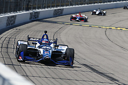 July 8, 2018 - Newton, Iowa, United States of America - TAKUMA SATO (30) of Japan battles for position during the Iowa Corn 300 at Iowa Speedway in Newton, Iowa. (Credit Image: © Justin R. Noe Asp Inc/ASP via ZUMA Wire)