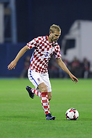 ZAGREB, CROATIA - NOVEMBER 09: Ivan Strinic of Croatia controls the ball during the FIFA 2018 World Cup Qualifier play-off first leg match between Croatia and Greece at Maksimir Stadium on November 9, 2017 in Zagreb, Croatia. (Luka Stanzl/PIXSELL)