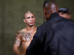 Nov 14, 2009; Las Vegas, NV, USA; Miguel Cotto's dressing room before his 12 round bout against Manny Pacquiao at the MGM Grand Garden Arena in Las Vegas, Nevada.  Mandatory Credit: Ed Mulholland/HBO