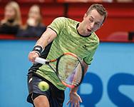 PHILIPP KOHLSCHREIBER (GER) Rueckhand,action, Aktion, Einzelbild, Halbkoerper, <br /> <br /> Tennis - ERSTE BANK OPEN 2017 - ATP 500 -  Stadthalle - Wien -  - Oesterreich  - 27 October 2017. <br /> &copy; Juergen Hasenkopf