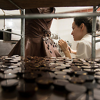 Chocolate dress for Marion Bartoli, by Philippe Bernachon