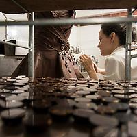 Chocolate dress for Marion Bartoli, by Philippe Bernachon